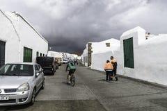 Edificio tradicional en Teguise Fotografía de archivo libre de regalías