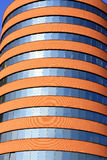 Edificio Tube-shaped moderno Imágenes de archivo libres de regalías