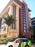 Edificio ultra moderno del partment en Kampala imagen de archivo