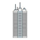 Edificio urbano de la torre Imagen de archivo libre de regalías
