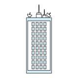 Edificio urbano de la torre Imágenes de archivo libres de regalías