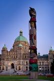 Edificio Victoria del parlamento, A.C., Canadá Fotografía de archivo libre de regalías