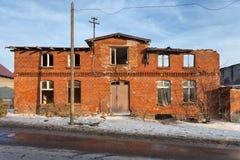 Edificio viejo, abandonado y olvidado Imagen de archivo libre de regalías