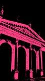 Edificio viejo con color de rosa. Vector ilustración del vector