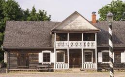 Edificio viejo de la comisaría de policías Imagenes de archivo