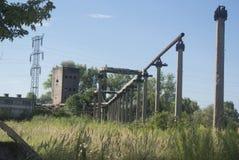 Edificio viejo de la fábrica Fotografía de archivo
