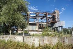 Edificio viejo de la fábrica Foto de archivo libre de regalías