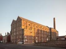 Edificio viejo de la fábrica de la malta en el mistley essex afuera fotos de archivo libres de regalías