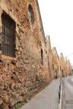 Edificio viejo de la herencia del neoria veneciano en la calle del chania imágenes de archivo libres de regalías