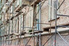 Edificio viejo de la renovación Imagen de archivo libre de regalías