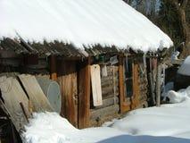 Edificio viejo de la sauna (Siberia) Foto de archivo libre de regalías