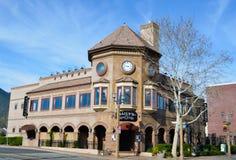 Edificio viejo de Temecula de la ciudad Foto de archivo libre de regalías