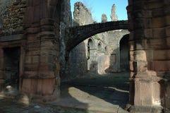 Edificio viejo del fantasma en la India fotografía de archivo