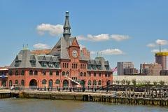 Edificio viejo del ferrocarril central del terminal de New Jersey Fotos de archivo libres de regalías