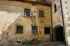 Edificio viejo del od del detalle Fotografía de archivo libre de regalías
