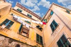 Edificio viejo en Cinque Terre, Italia Imagen de archivo libre de regalías