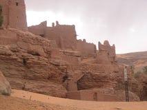 Edificio viejo en el desierto de Argelia Imágenes de archivo libres de regalías