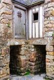Edificio viejo en el Le Mont-Santo-Miguel Monastery Imagenes de archivo