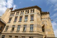Edificio viejo en la ciudad de Lviv, Ucrania imagen de archivo libre de regalías