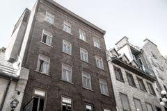 Edificio viejo en la ciudad de Quebec Fotografía de archivo