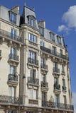 Edificio vivo tradicional, París Fotografía de archivo libre de regalías