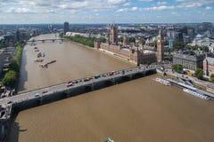 Edificio y Ben grande Londres Inglaterra del parlamento Foto de archivo libre de regalías