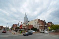 Edificio y Broadway, Nashville, Tennessee de AT&T Foto de archivo
