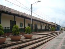 Edificio y calle de Tabio Foto de archivo libre de regalías