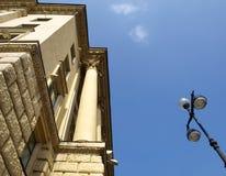 Edificio y lámpara Imagenes de archivo