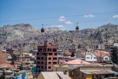 Edificio y paisaje urbano en La Paz en Bolivia Fotos de archivo libres de regalías