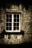 Edificio y ventana viejos Foto de archivo libre de regalías