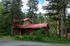 Edificios únicos en Alaska Foto de archivo libre de regalías