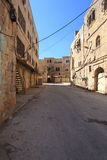 Edificios abandonados, calle de Emek Hebrón Foto de archivo