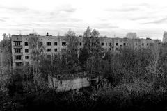 Edificios abandonados de la subida Fotografía de archivo