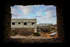 Edificios abandonados de una base militar Imagen de archivo libre de regalías