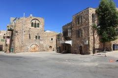 Edificios abandonados en la ciudad vieja de Hebrón foto de archivo libre de regalías