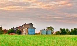 Edificios agrícolas Imágenes de archivo libres de regalías