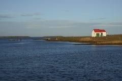 Edificios agrícolas en una isla más triste - Falkland Islands Foto de archivo libre de regalías