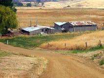 Edificios agrícolas, Tasmania Imagen de archivo libre de regalías