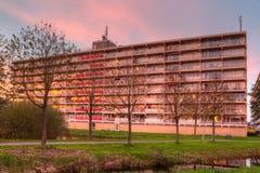 Edificios altos en el resplandor de tarde Fotografía de archivo libre de regalías