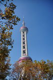 Edificios altos en Lujiazui en Shangai Fotos de archivo libres de regalías