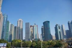 Edificios altos en Lujiazui en Shangai Fotografía de archivo libre de regalías