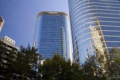Edificios azules Foto de archivo libre de regalías