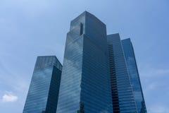 Edificios azules en el cielo azul imagen de archivo libre de regalías