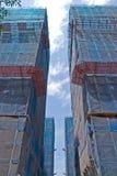 Edificios bajo construcción Imágenes de archivo libres de regalías