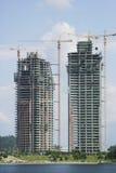 Edificios bajo construcción Fotos de archivo libres de regalías