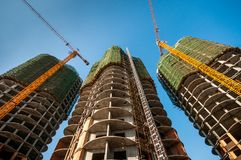 Edificios bajo construcción Fotos de archivo