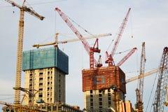 Edificios bajo construcción, CBD Pekín Fotografía de archivo libre de regalías