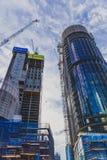 Edificios bajo construcción como parte del renovatio de Barangaroo Imagen de archivo