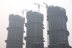 Edificios bajo construcción en China Fotografía de archivo